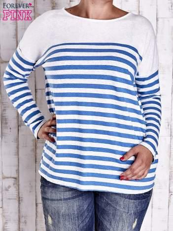 Biało-niebieska bluzka w paski