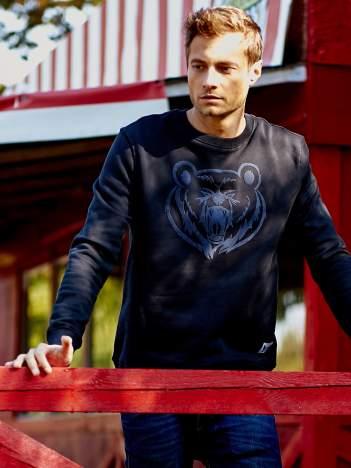 Czarna bluza męska z niedźwiedziem