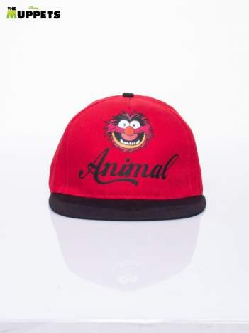 Czerwony chłopięca czapka z daszkiem MUPPETY