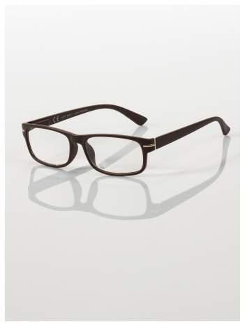Eleganckie brązowe okulary korekcyjne do czytania +1.0 D