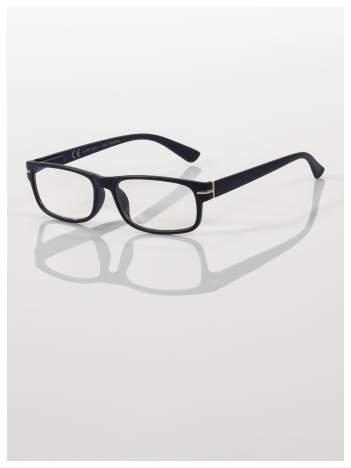 Eleganckie czarne matowe korekcyjne okulary do czytania +4.0 D  z sytemem FLEX na zausznikach