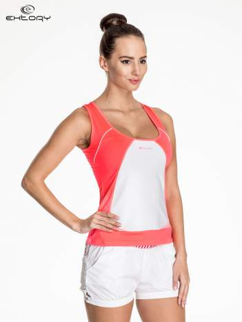 Fluoróżowy top sportowy na fitness