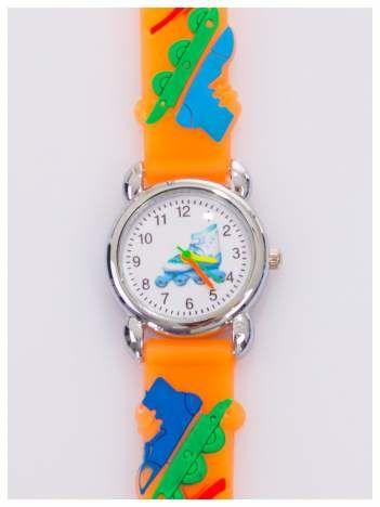 Kolorowy zegarek dziecięcy na wygodnym silikonowym pasku