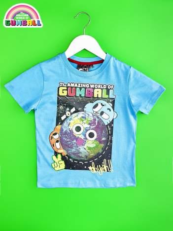 Niebieski t-shirt chłopięcy GUMBALL