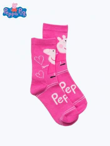 Różowe skarpetki dla dziewczynki ŚWINKA PEPPA