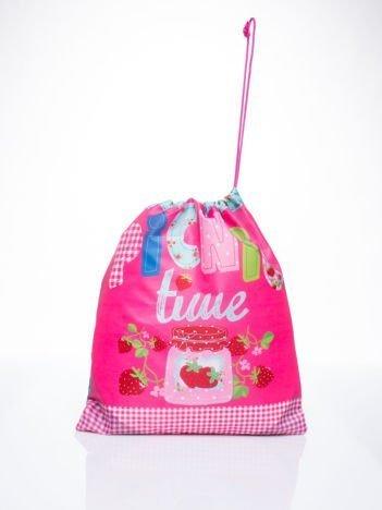 Różowy plecak worek DISNEY na piknik