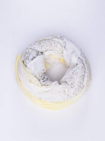 Żółty lekki szal w kropeczki