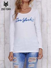 Biała bluzka z napisem ZOO YORK
