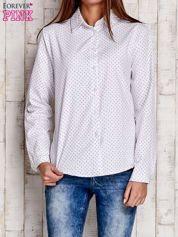 Biała koszula w drobne listki