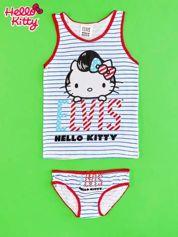 Biały komplet do spania dla dziewczynki ELVIS HELLO KITTY