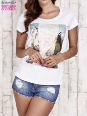 Butik Biały t-shirt damski z napisem CALIFORNICATION