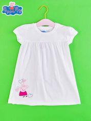 Biały t-shirt dla dziewczynki ŚWINKA PEPPA