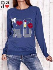 Ciemnoniebieska bluza z napisem NO