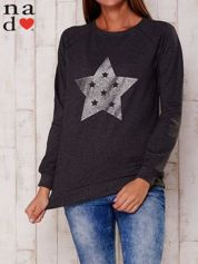 Ciemnoszara bluza z nadrukiem gwiazdy