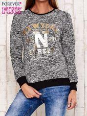 Czarna bluza z napisem NEW YORK STREET