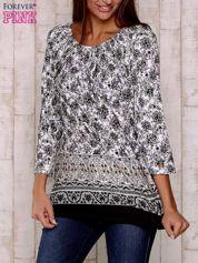 Czarna bluzka z ornamentowym wzorem