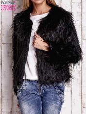 Czarna futrzana kurtka