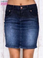 BY SALLY Czarna ołówkowa spódnica jeansowa
