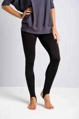 Butik Czarne legginsy zakładane na stopę