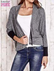 Czarny melanżowy sweter z otwartym dekoltem