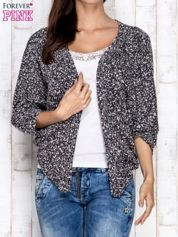 Czarny melanżowy sweter z rękawem typu nietoperz