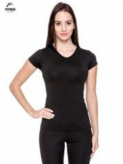For Fitness Czarny termoaktywny t-shirt sportowy typu basic ♦ Performance RUN