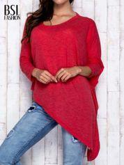 Czerwona melanżowa bluzka oversize
