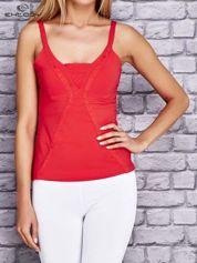 Butik Czerwony damski top sportowy na ramiączkach