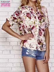 Ecru koszula z nadrukiem kwiatowym