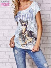 Ecru t-shirt z napisem MOSCINO