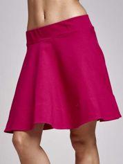 Fuksjowa spódnica dresowa skater