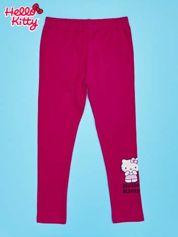 Fuksjowe legginsy dla dziewczynki z motywem HELLO KITTY