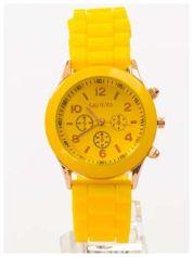 GENEVA Żółty zegarek damski na silikonowym pasku