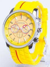GENEVA Żółty zegarek męski MILITARY