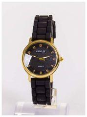 Klasyczny damski zegarek na wygodnym silikonowym pasku