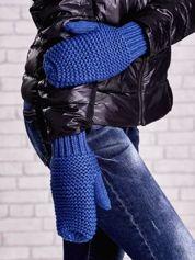 Niebieskie grube rękawiczki na jeden palec