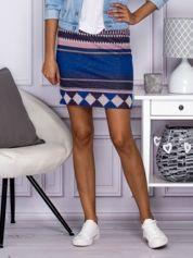 Butik Niebiesko-różowa spódnica w azteckie wzory