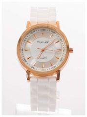 Nowoczesny i elegancki damski zegarek na wygodnym silikonowym pasku. Doskonały na każdą okazję.