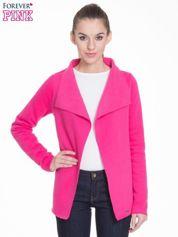 Butik Różowa bluzonarzutka z klapami o kroju oversize