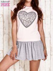 Różowa dresowa sukienka tenisowa z sercem