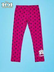 Różowe legginsy dla dziewczynki motyw 101 DALMATYŃCZYKÓW