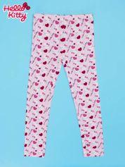 Różowe legginsy dla dziewczynki z nadrukiem HELLO KITTY