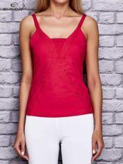 Różowy damski top sportowy na ramiączkach