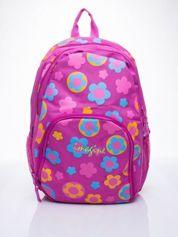 Różowy plecak dla dziewczynki DISNEY w kwiatki