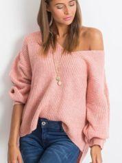 Różowy sweter Wandering