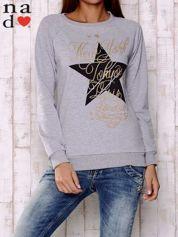 Szara bluza z motywem gwiazdek