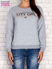 Szara bluza z napisem CITY GIRL