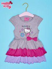 Szara spódnica dla dziewczynki HELLO KITTY z kokardką