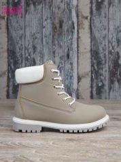 Szare buty trekkingowe damskie traperki ocieplane