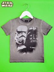 Szary t-shirt chłopięcy STAR WARS